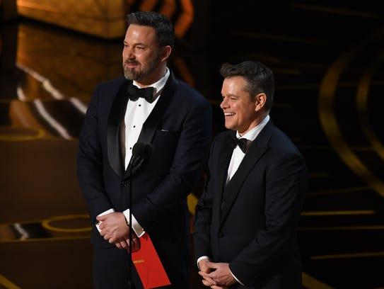 Ben Affleck presented at the Oscars on Feb. 26 alongside