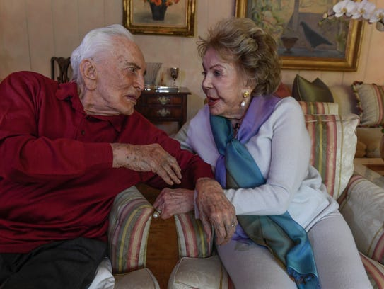 True love: Kirk and Anne Douglas have been married