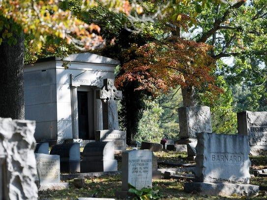 Riverside Cemetery in Asheville September 19, 2017.