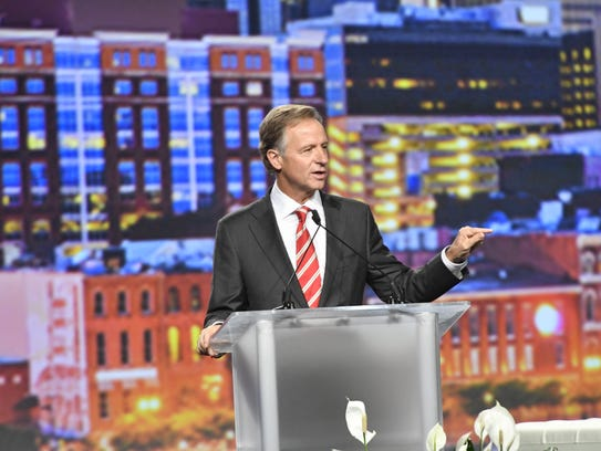 Governor Bill Haslam speaks during the ExcelinED 2017