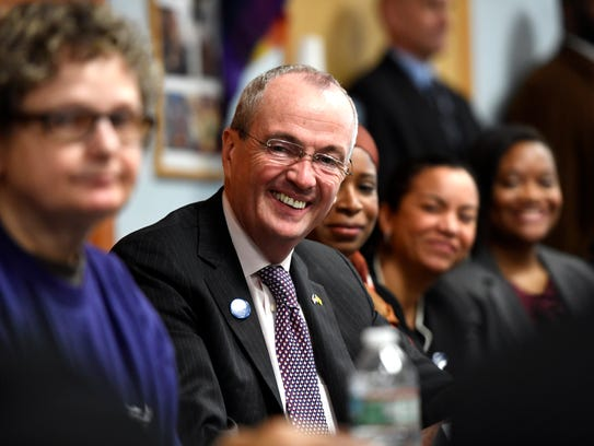 Gov. Phil Murphy sits in on a round-table discussion