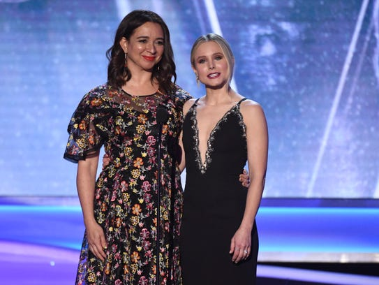 Maya Rudolph joins Kristen Bell onstage at the 24th