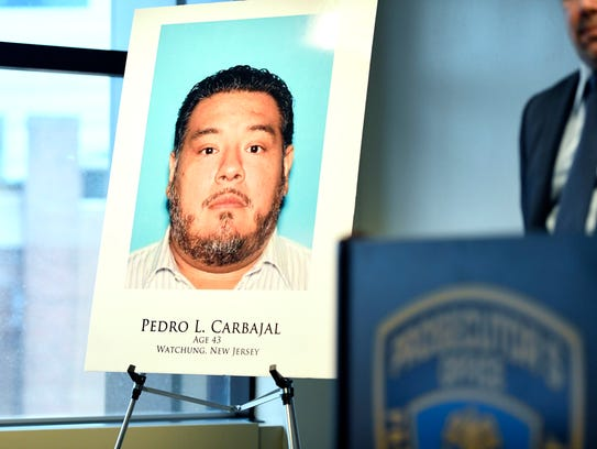 A mugshot of Pedro L. Carbajal, 43 of Watchung, is
