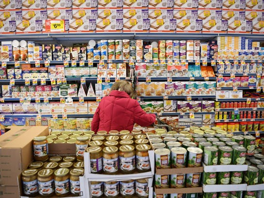 An aisle at Stop & Shop in Teaneck featuring an assortment