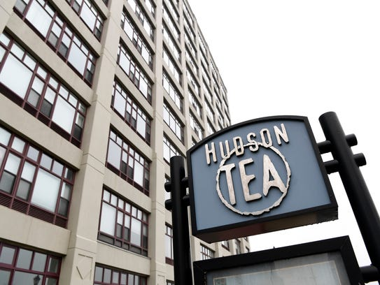Pictured is the Hudson Tea Building on the Hoboken