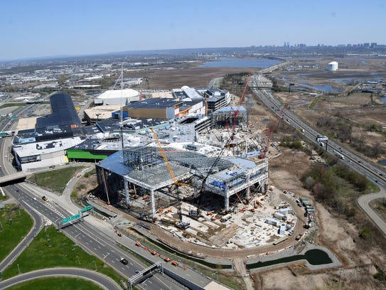 Construction at the American Dream Meadowlands as seen