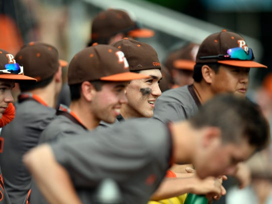 The Pascack Hills bench is all smiles in the seventh
