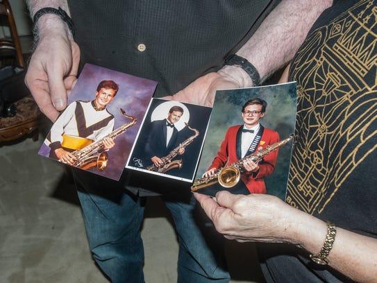 Childhood photos of saxophone player Jason Mingledorff