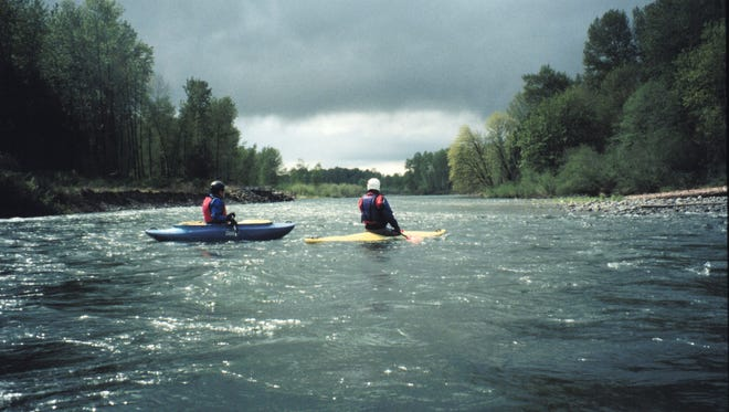 The weather and the fall colors could be dramatic during a late-October outing with Cascade Paddlers.