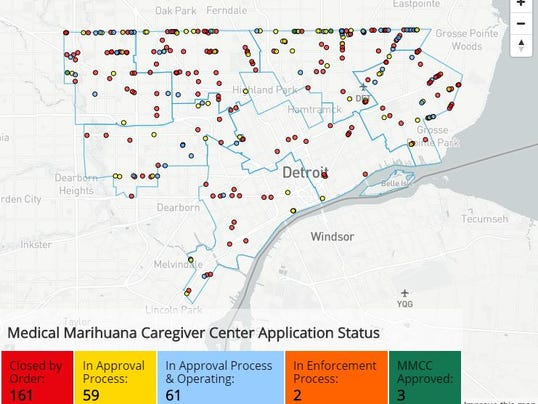 Online Map Shows Detroit Medical Marijuana Shops - Med pot us map