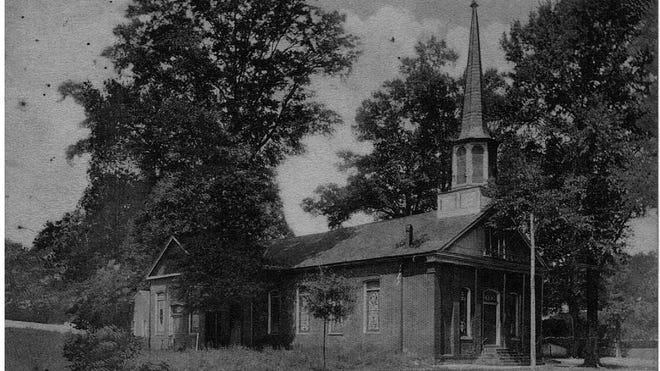 First Presbyterian Church, 1919: This postcard shows the first building erected at 900 Greensboro Ave. in 1830. It was replaced by the current sanctuary in 1922, which was renovated in 1953. Comments? Reach bettyslowe6@gmail.com.