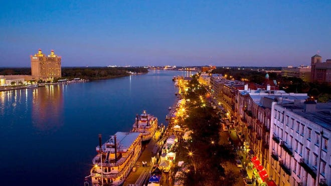 Savannah's riverfront is a center of activity for visitors