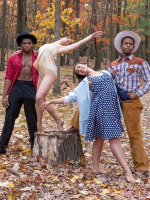 "Ithaca College Theatre presents ""Winter Bodies,"" a celebration of the diversity of dance in three distinct styles. Performances begin Monday. Pictured are Quenton Kimble, Ezgi Irmakkesen, Deanna Payne, and Jeremiah Porter."