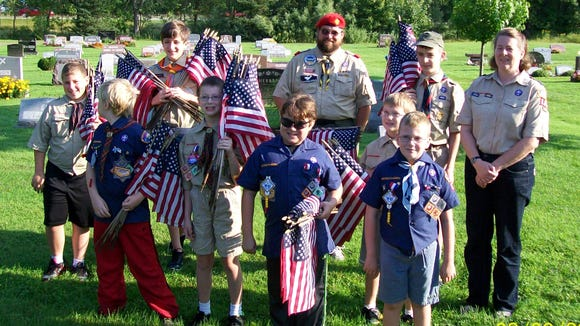 Scouts from Pack 108, Troop 108 and Troop 110 (Provided photo)