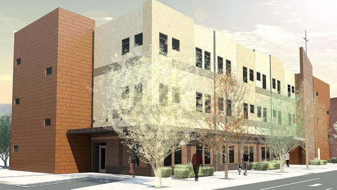 The new Cameron Family Center in the 400 block of 2nd Avenue South. The $7.75 million building is being built thanks to a $1 million contribution from Nancy Cameron.