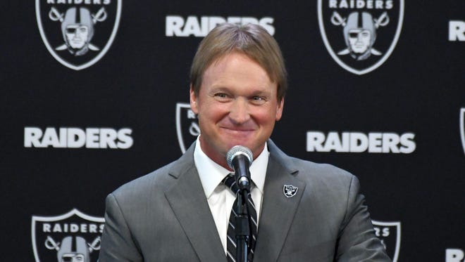 Jon Gruden returned to the Oakland Raiders, where he was head coach from 1998-2001.