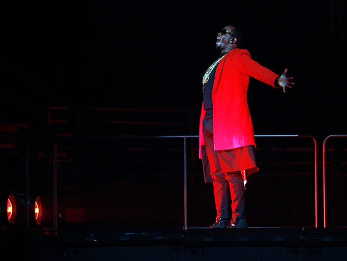 """Sean 'Diddy"""" Combs, aka Puff Daddy performs during"""