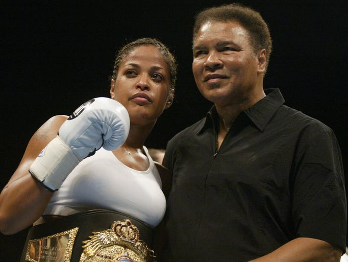 Scott Halleran/Getty Images Boxer Laila Ali poses with
