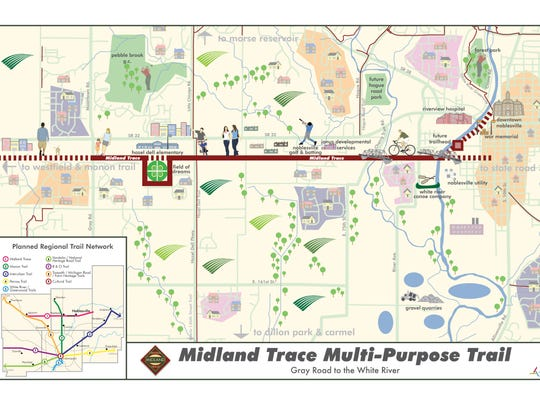 Noblesville is purchasing right of way in 2015 to build the Midland Trace rail trail.