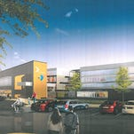 An outside view of what the St. Cloud Area YMCA Community and Aquatics Center will look like.
