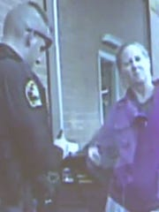 Kathleen Bailey, pictured in a dashcam video from Nov. 24, 2015.
