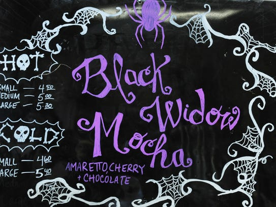The black widow mocha is a special of the day today.