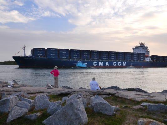 Jamaica arrives at port