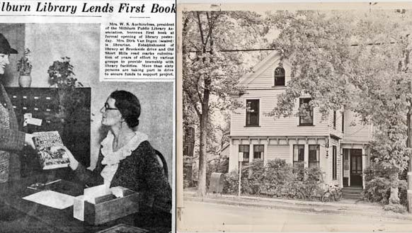 The first town library once served as a meat market.