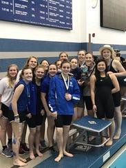 The Mercersburg Academy girls swim team placed second