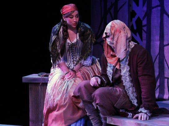 "Alysia Kolascz and Alex Leydenfrost in  ""The Gravedigger,"