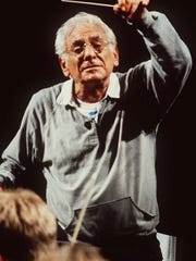 Leonard Bernstein at age 71 in July 1990. He would die later that year on Oct. 14.