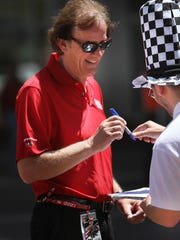 Indy 500 winning race car driver Arie Luyendyk, shown