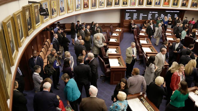 Renovations were unveiled Monday at the Florida Senate Chamber that brought the 1978 chamber into this century.