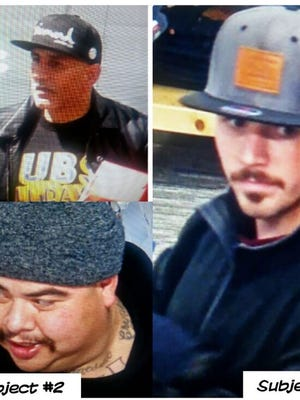 Salinas police are seeking the identify of three people suspected of shoplifting.