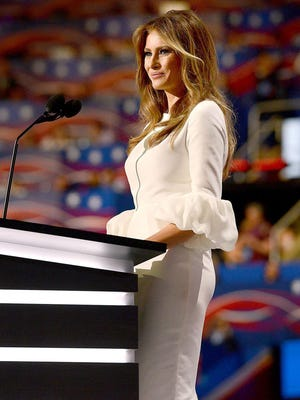Trump, who wears off-the-rack clothing, doesn't need support from exclusive designers to make a splash. This white fitted dress by Roksanda Ilincic swiftly sold out after she wore it at the Republican convention.