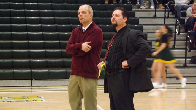 Northeastern High School Principal Wes Wisner (right) and Assistant Principal Bob Stacy.