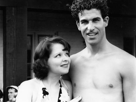Frank Bogert and Clara Bow at El Mirador c.1930.