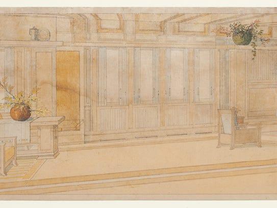 George Mann Niedecken Living Room for the Frederick