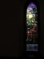 The Holy Family Series stained glass at The Church