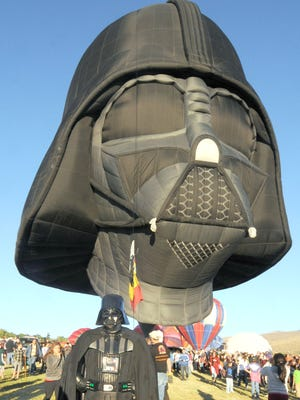 The Darth Vader hot air balloon is scheduled to return to the 2014 Great Reno Balloon Race.