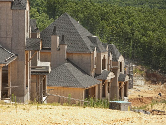 A 2009 photo of houses built on the Indian Ridge Resort