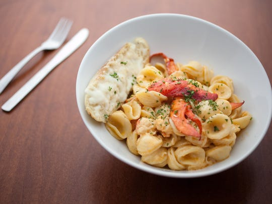 The lobster mac and cheese at Red Embers Bar and Grill