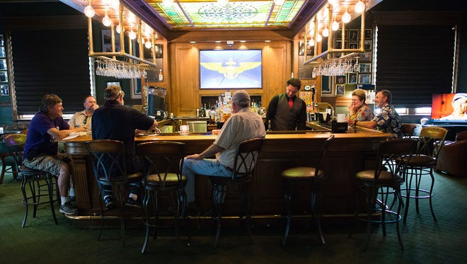 The Cavu Lobby Bar inside the Crowne Plaza in downtown Pensacola not only caters to hotel visitors but also has many regulars from the local area.