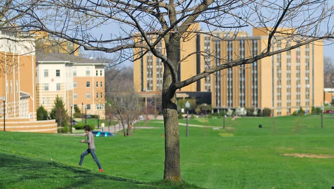 The campus of Kent State University in Ohio.