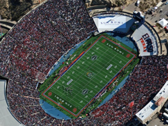 Aerial view of the 76th Annual Brut Sun Bowl