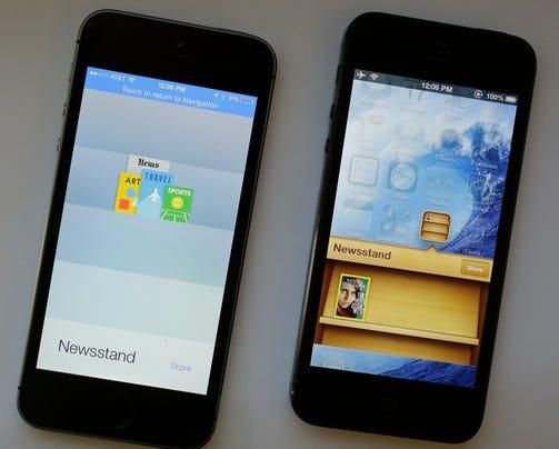 AP Digital Life Tech Test Apple iOS 7 Software