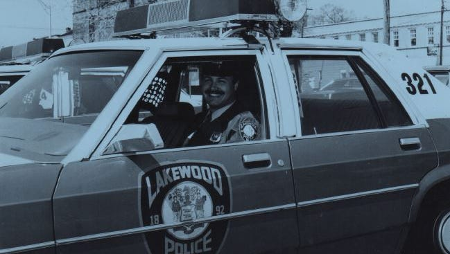 Robert C. Lawson as a Lakewood patrolman, circa 1984.