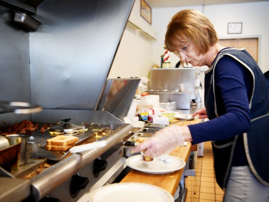 Kathy Wilkins plates meals at Rite Aid Coffee Shop