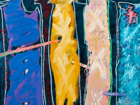 """Lois Main Templeton's painting """"She Was the Life of"""