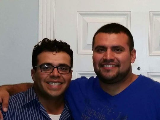 Steven Gomez (left) and his older brother Anthony Gomez,